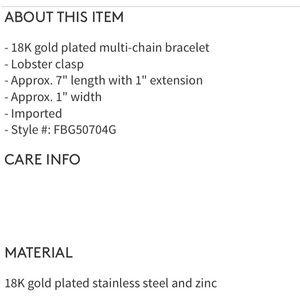 Savvy Cie Jewelry - Savvy Cie wide multi chain 18k plated bracelet NWT